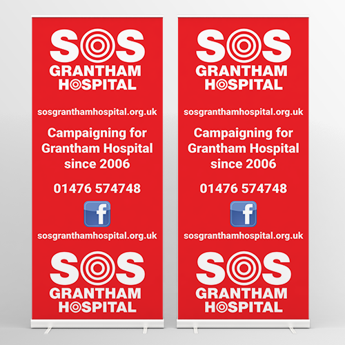 sos-grantham-hospital-roller-banners