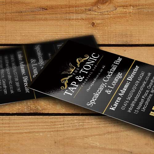 the tap & tonic business cards